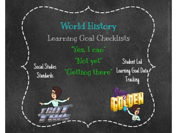 6th Grade World History Student Learning Goal Chart/ Checklist