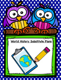 World History Substitute Plans