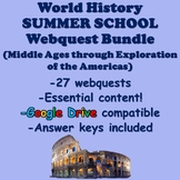 World History Summer School Bundle (Middle Ages to Exploration of the Americas)