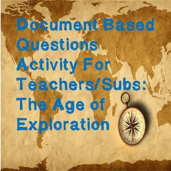 World History Teacher/Sub Activity: DBQ Age of Exploration
