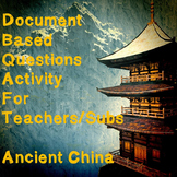World History Teacher/Sub Activity: DBQ Ancient China