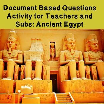 World History Teacher/Sub Activity: DBQ Ancient Egypt