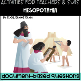 World History Teacher/Sub Activity: DBQ Mesopotamia