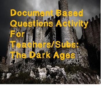 World History Teacher/Sub Activity: DBQ The Dark Ages