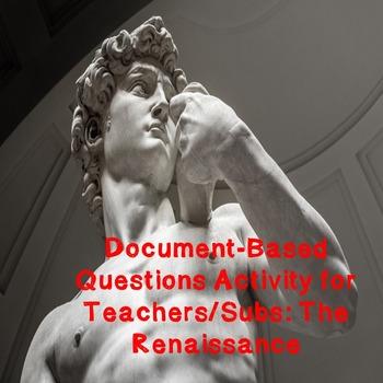 World History Teacher/Sub Activity: DBQ The Renaissance