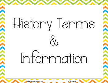 World History Terms and Information