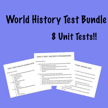 World History Test Bundle