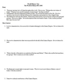 World History Test - The World of Islam, 600–1500