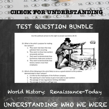 World History Test and Quiz Questions Bundle