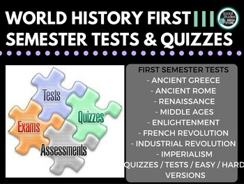 World History Tests First Semester