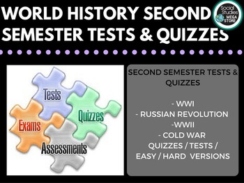 World History Tests Second Semester