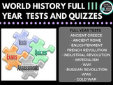 World History Tests Whole Year