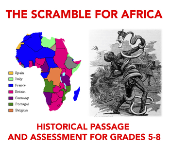 World History Text and Assessment: The Scramble for Africa