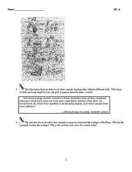 World History - The Americas (400-1500) Discussion/Essay Questions