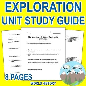 Exploration Unit Study Guide (World History) Americas & Exploration