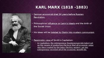 World History The Bolsheviks Marx/Lenin/Stalin 29 slides PPT