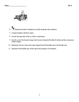 World History-The First Humans (Prehistory-3500 B.C.) Discussion/Essay Questions