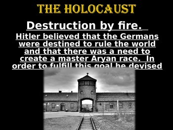 World History:  The Holocaust Power Point