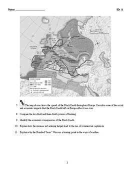World History - The Middle Ages (1000-1500) Discussion/Essay Questions