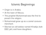 World History The Rise of Islam