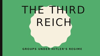 World History The Third Reich 18 slides PPT Groups