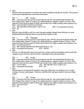 World History The World Of Islam 600 1500 Discussion Essay Questions