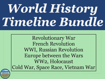 World History Timeline BUNDLE