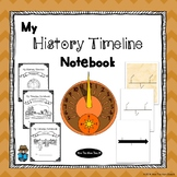 World History Timeline Book - Cover Pages and Blank Templates Included