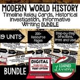 World History Timeline, Investigation, & Writing (Paper and Google) BUNDLE