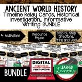 World History Timeline Writing Activities World History BU