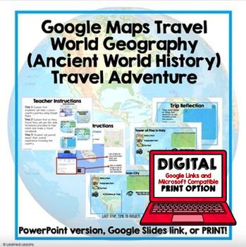 World History Travel Adventure Digital Interactive, Print, Google