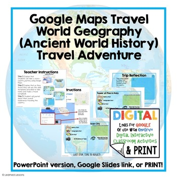 World History Travel Adventure Digital Interactive, Print, Google