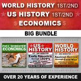 World History & US History & Economics Curriculum Activity Writing Bundle 3 Year