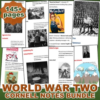 World War Two (WWII) Cornell Notes *Bundle* (World History / U.S. History)