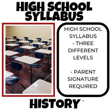 High School Syllabus-Back to School