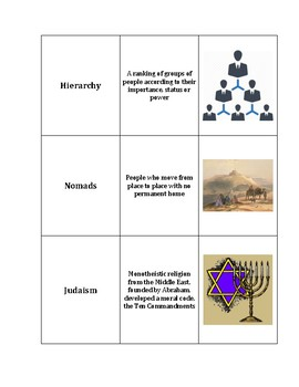 World History - From Civilizations to Empires - Vocabulary Cards
