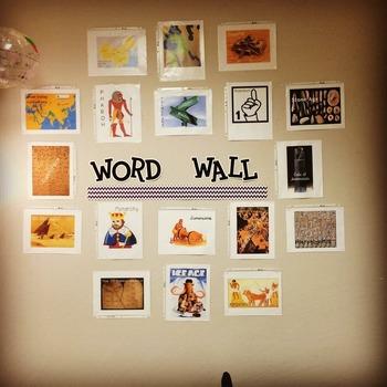 World History Unit 1 Word Wall
