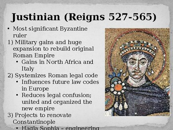 World History - Unit 10 (Byzantine Empire) PPT with Notes
