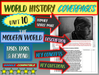World History Unit 10 study guide: MODERN WORLD (Key Terms, Ideas, Qs & more)