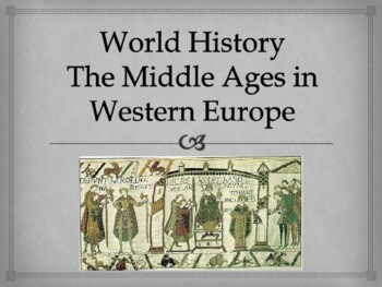 world history unit 11 middle ages ppt with notes by whitney sheets
