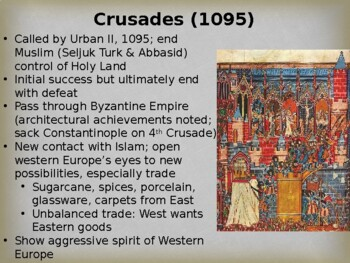 World History - Unit 11 (Middle Ages) PPT with Notes