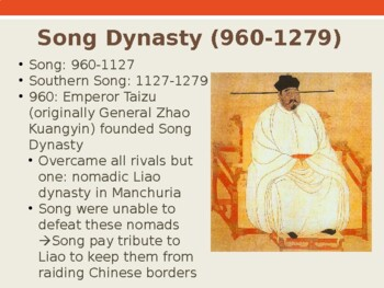 World History - Unit 13 (Tang and Song China) PPT with Notes