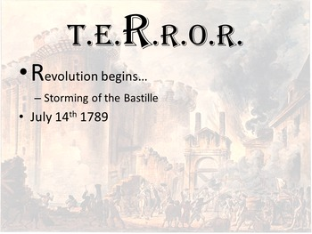 World History Unit 3-French Revolution