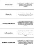 World History - Connecting Hemispheres - Quiz-Quiz-Trade Cards