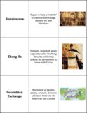 World History - Connecting Hemispheres - Vocabulary Cards