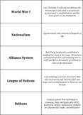 World History - The World Wars - Quiz-Quiz-Trade Cards