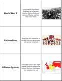 World History - The World Wars - Vocabulary Cards