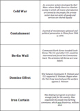 World History - The World After WWII - Quiz-Quiz-Trade Cards