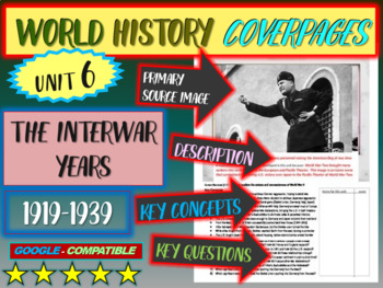 World History Unit 6 study guide: INTERWAR YEARS (Key Terms, Ideas, Qs & more)