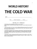World History - Unit 7 - Post World War II and the Cold War - Packet
